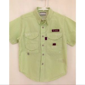Columbia boys XS outdoors shirt, SPF 30 NWOT